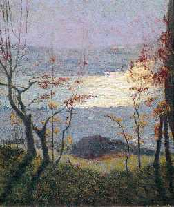 Vittore Grubicy De Dragon - Morning. Autumn Landscape with Trees