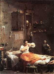 Giuseppe Maria Crespi - Searcher for Fleas Alternative title(s) The Flea Hunt