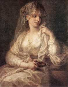 Angelica Kauffman (Maria Anna Angelika) - Portrait of a Woman Dressed as Vestal Virgin