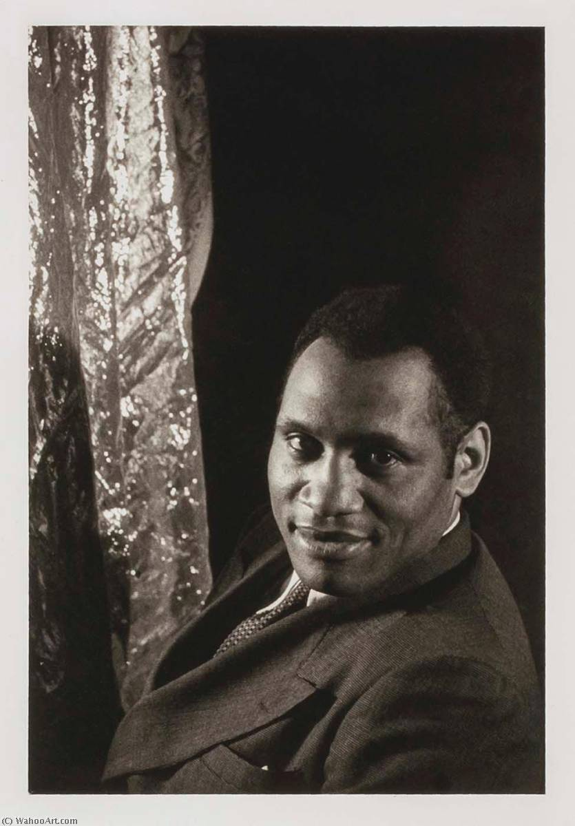 famous painting Paul Robeson, from the portfolio O Write My Name American Portraits, Harlem Heroes of Carl Van Vechten