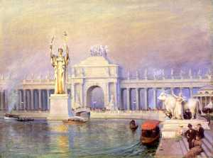 Charles Courtney Curran - East End of the Grand Basin, World's Columbian Exposition
