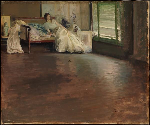 famous painting Across the Room of Edmund Charles Tarbell