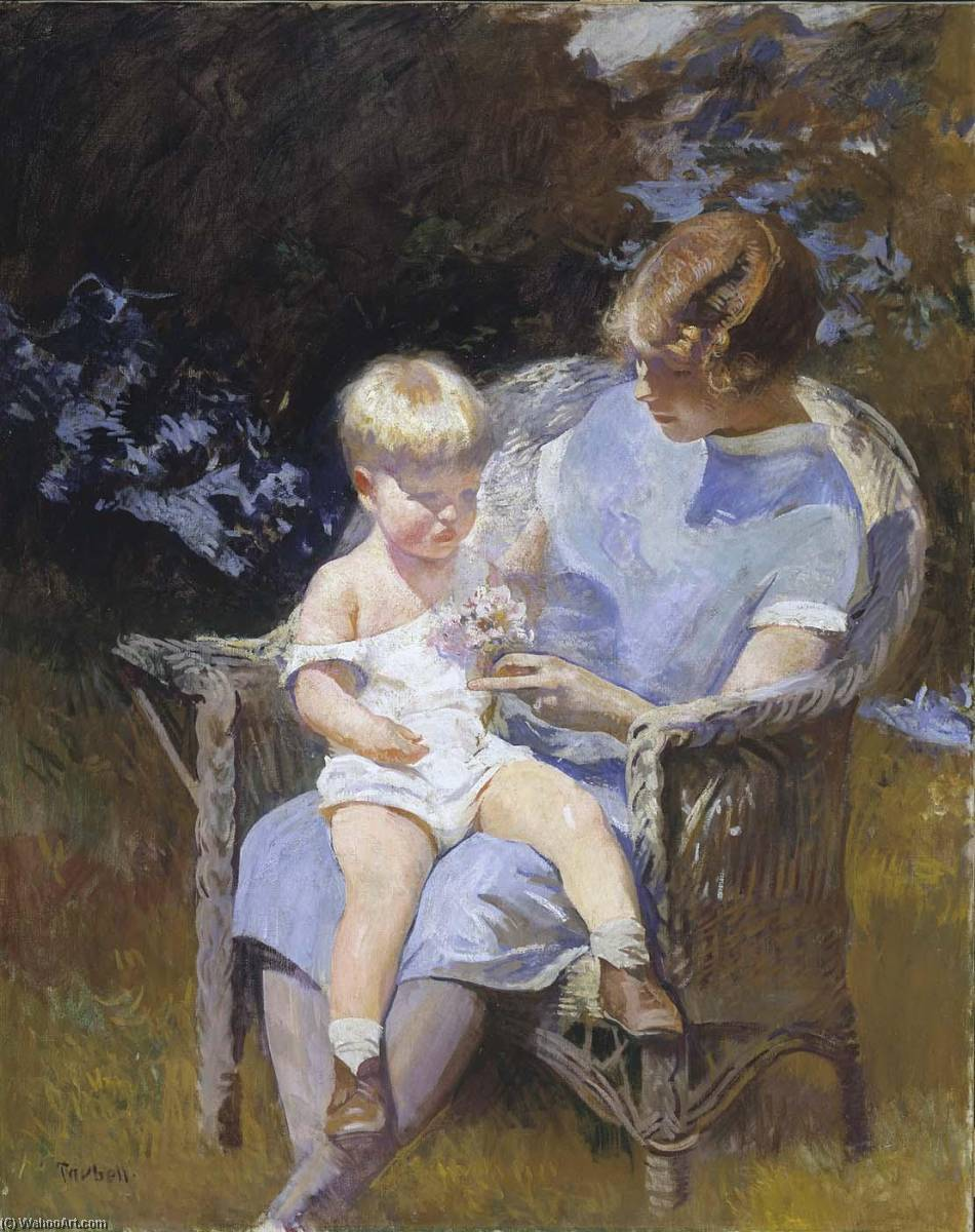 famous painting Marjorie and Little Edmund of Edmund Charles Tarbell