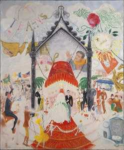 Florine Stettheimer - The Cathedrals of Fifth Avenue