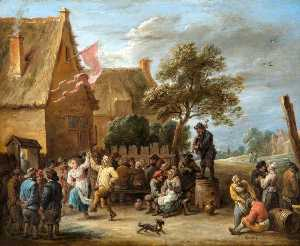 David The Younger Teniers - A Village Festival on St George's Day