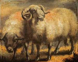 David Wilkie Wynfield - Sheep