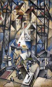 Christopher Richard Wynne Nevinson - Le vieux port