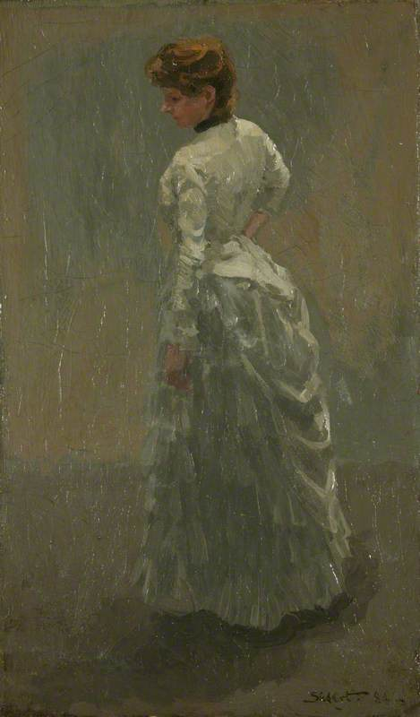 famous painting The Grey Dress of Walter Richard Sickert