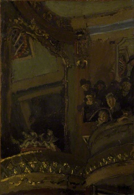 famous painting The Old Bedford Music Hall of Walter Richard Sickert