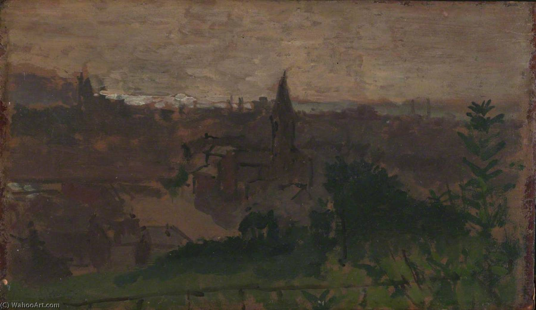 famous painting View of Dieppe with Eglise du Pollet of Walter Richard Sickert