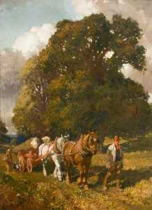 Alfred James Munnings - The Timber Gill