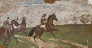 Alfred James Munnings - Going to the Start
