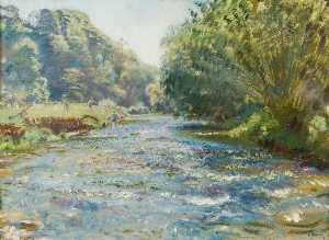 Alfred James Munnings - The Barle near Brightworthy, Withypool, Exmoor