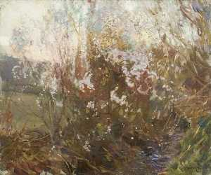 Alfred James Munnings - Spring Evening, Cornwall