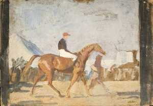 Alfred James Munnings - Study at Newmarket