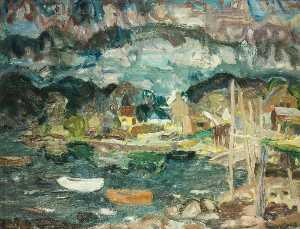 William George Gillies - Dusk at Letterfearn