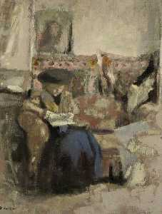 Jean Edouard Vuillard - Seated Woman, Reading