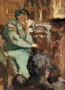 Jean Edouard Vuillard - Lady in Green