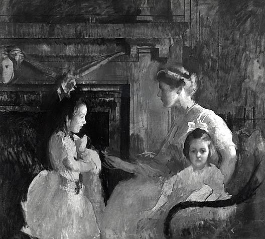famous painting Mrs. George Putnam and Her Daughters, (painting) of Edmund Charles Tarbell