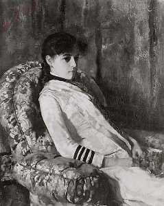 Edmund Charles Tarbell - Mrs. Tarbell as a Girl, (painting)