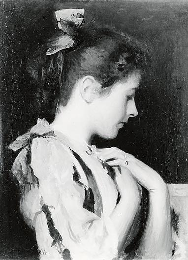 famous painting Amethyst, (painting) of Edmund Charles Tarbell