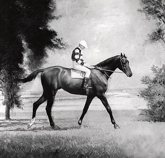 famous painting Race Horse, (painting) of Edmund Charles Tarbell