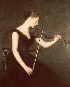 Edmund Charles Tarbell - The Violinist, (painting)