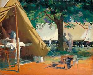 William Newenham Montague Orpen - German Sick Captured at Messines, in a Canadian Hospital