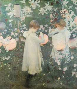 Reginald Grenville Eves - 'Lily, Carnation, Lily, Rose' (copy of John Singer Sargent)