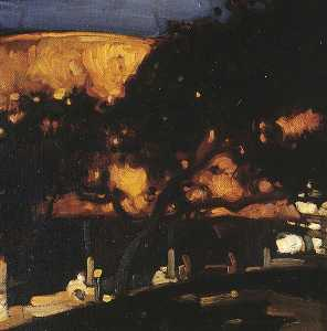Frank William Brangwyn - A Landscape Study