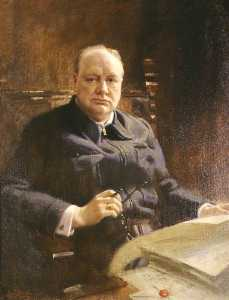 Frank O Salisbury - Sir Winston Leonard Spencer Churchill (1874–1965), KG, DL, OM, CH, PC, MP