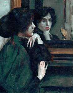 Philip Wilson Steer - The Mantelpiece (Ethel Dixon)