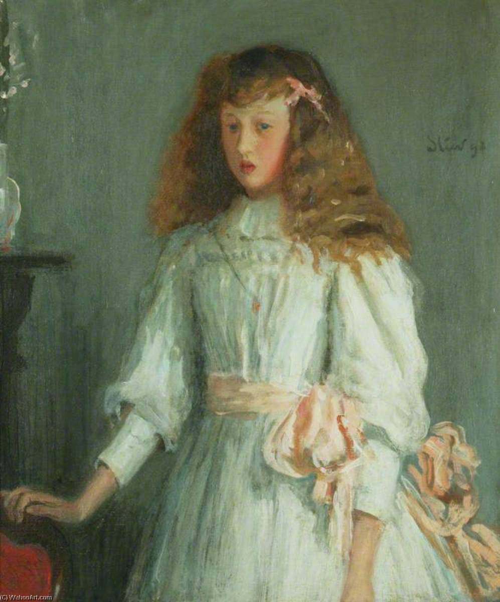 famous painting A Young Girl in a White Dress of Philip Wilson Steer