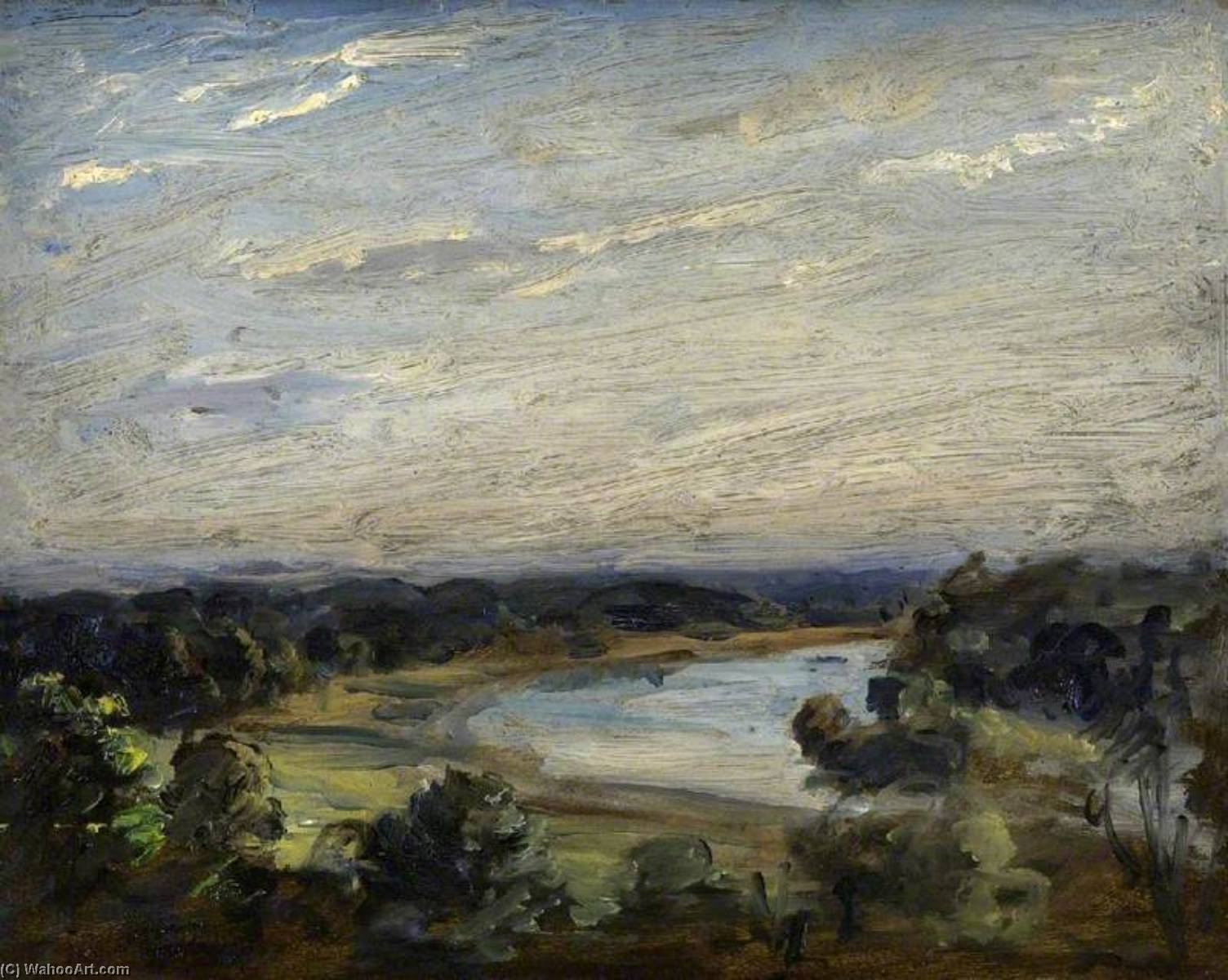 famous painting The Thames from Richmond Hill of Philip Wilson Steer