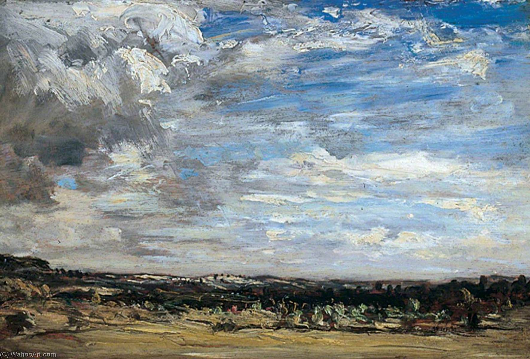 famous painting Windy Day near Bridgnorth, Shropshire of Philip Wilson Steer