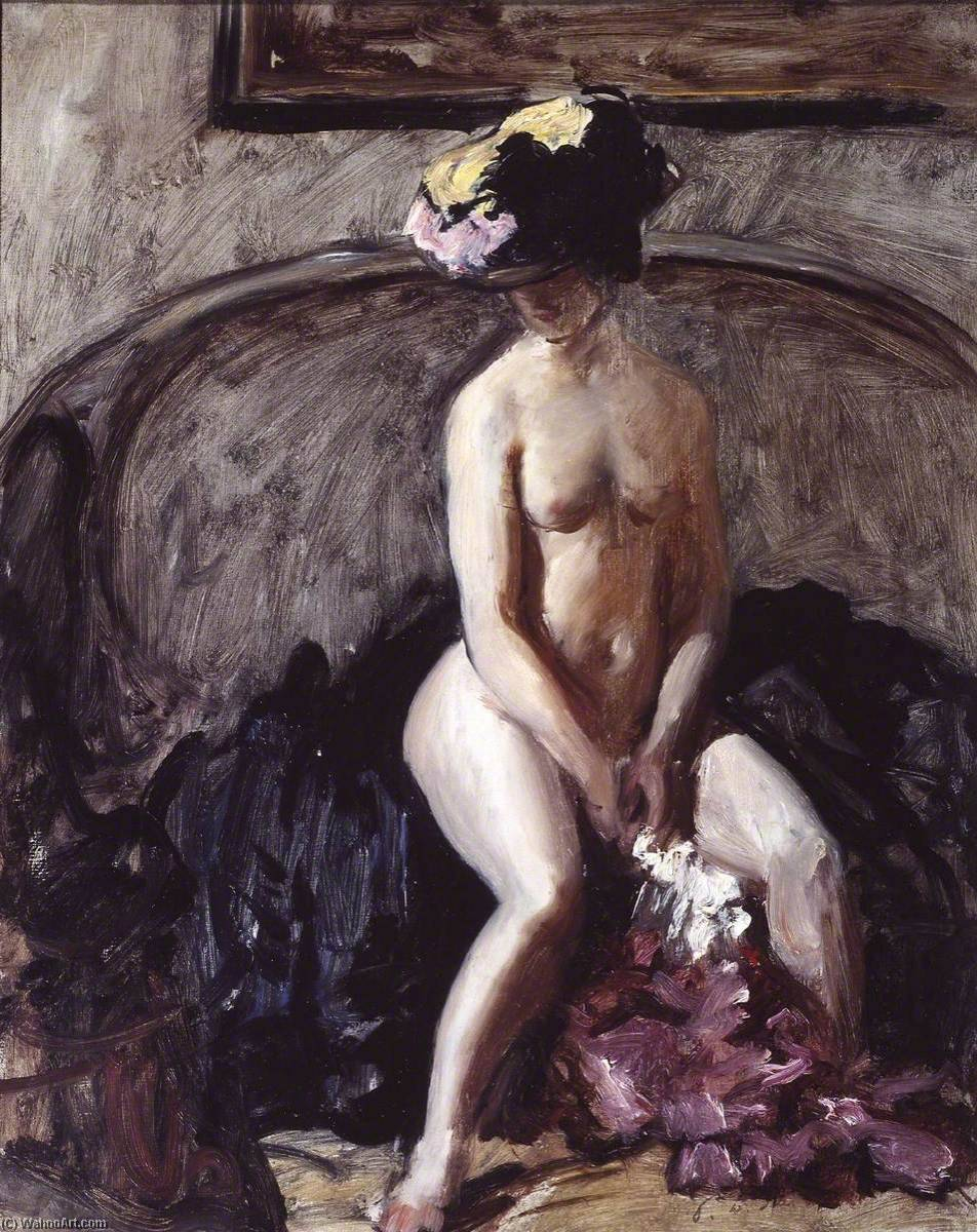 famous painting Seated Nude The Black Hat of Philip Wilson Steer