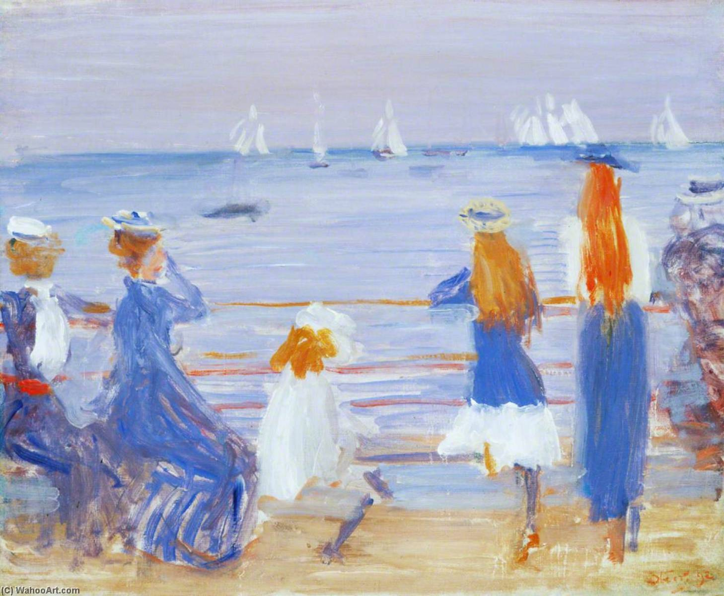 famous painting Watching Cowes Regatta of Philip Wilson Steer