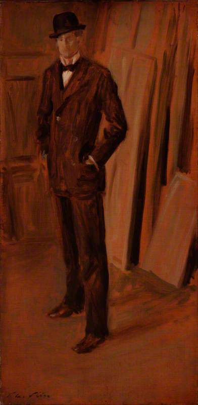 famous painting Walter Richard Sickert (published 1894) of Philip Wilson Steer