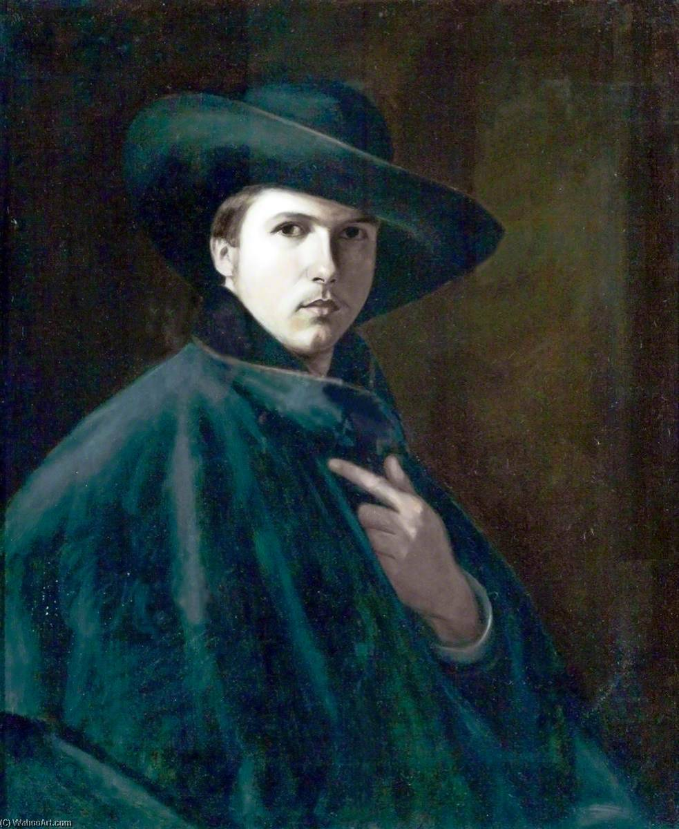 famous painting Self Portrait, When 18 of Philip Wilson Steer
