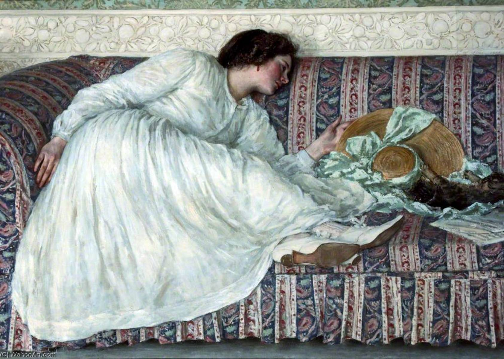 famous painting The Muslin Dress of Philip Wilson Steer