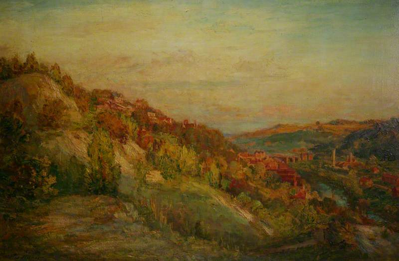 famous painting The Deserted Quarry, Ironbridge of Philip Wilson Steer