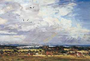 Philip Wilson Steer - Storm Clouds, Poole Harbour, Dorset