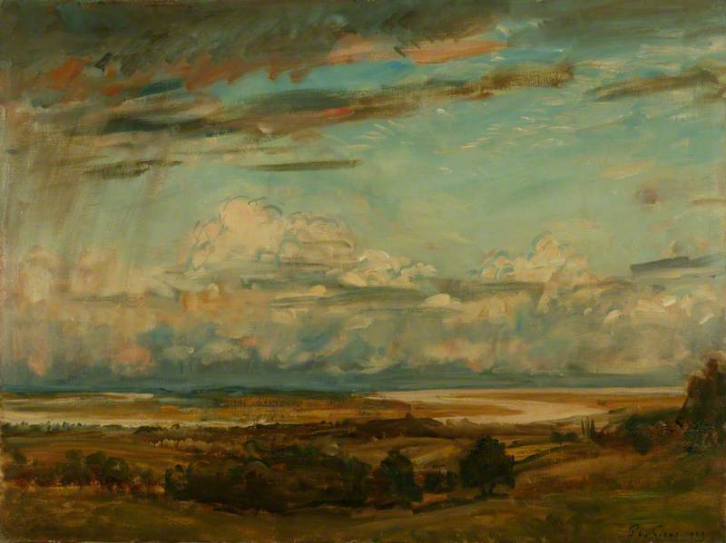 famous painting The Horseshoe Bend of the Severn of Philip Wilson Steer