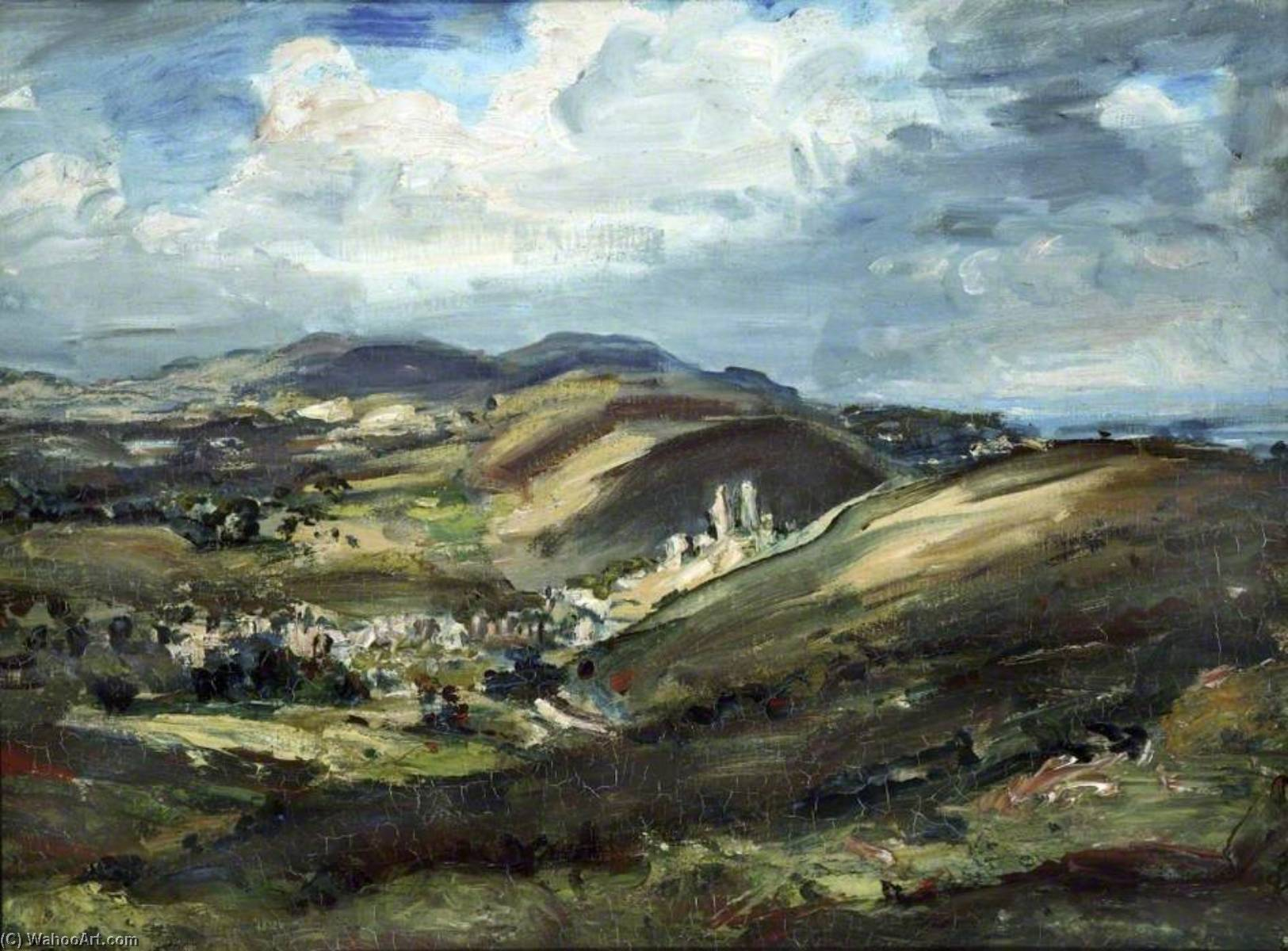 famous painting Corfe Castle and the Isle of Purbeck of Philip Wilson Steer