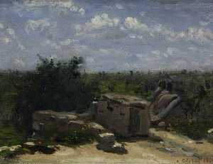 Adolphe Félix Cals - The Well in the Rue Montlaville, Orrouy (viewed from the west)