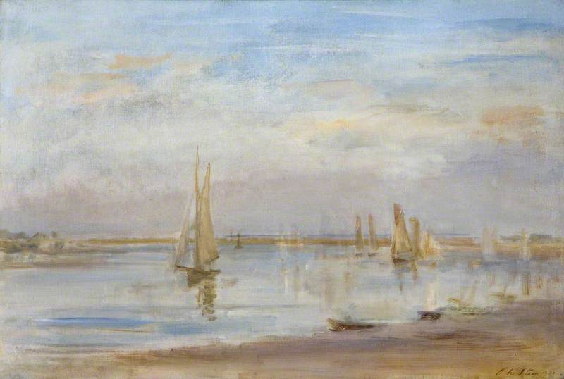 famous painting Yachts on the Solent of Philip Wilson Steer