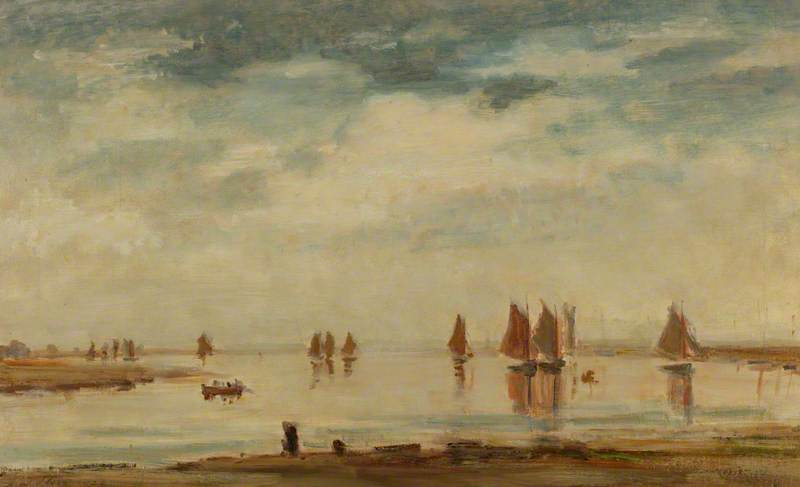 famous painting Return of the Fishing Fleet of Philip Wilson Steer