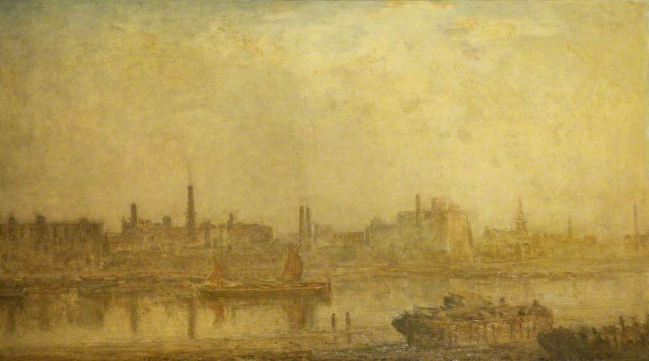 famous painting The Thames from Cheyne Walk of Philip Wilson Steer