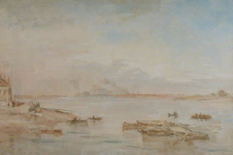 famous painting The Ferry, Avonmouth of Philip Wilson Steer