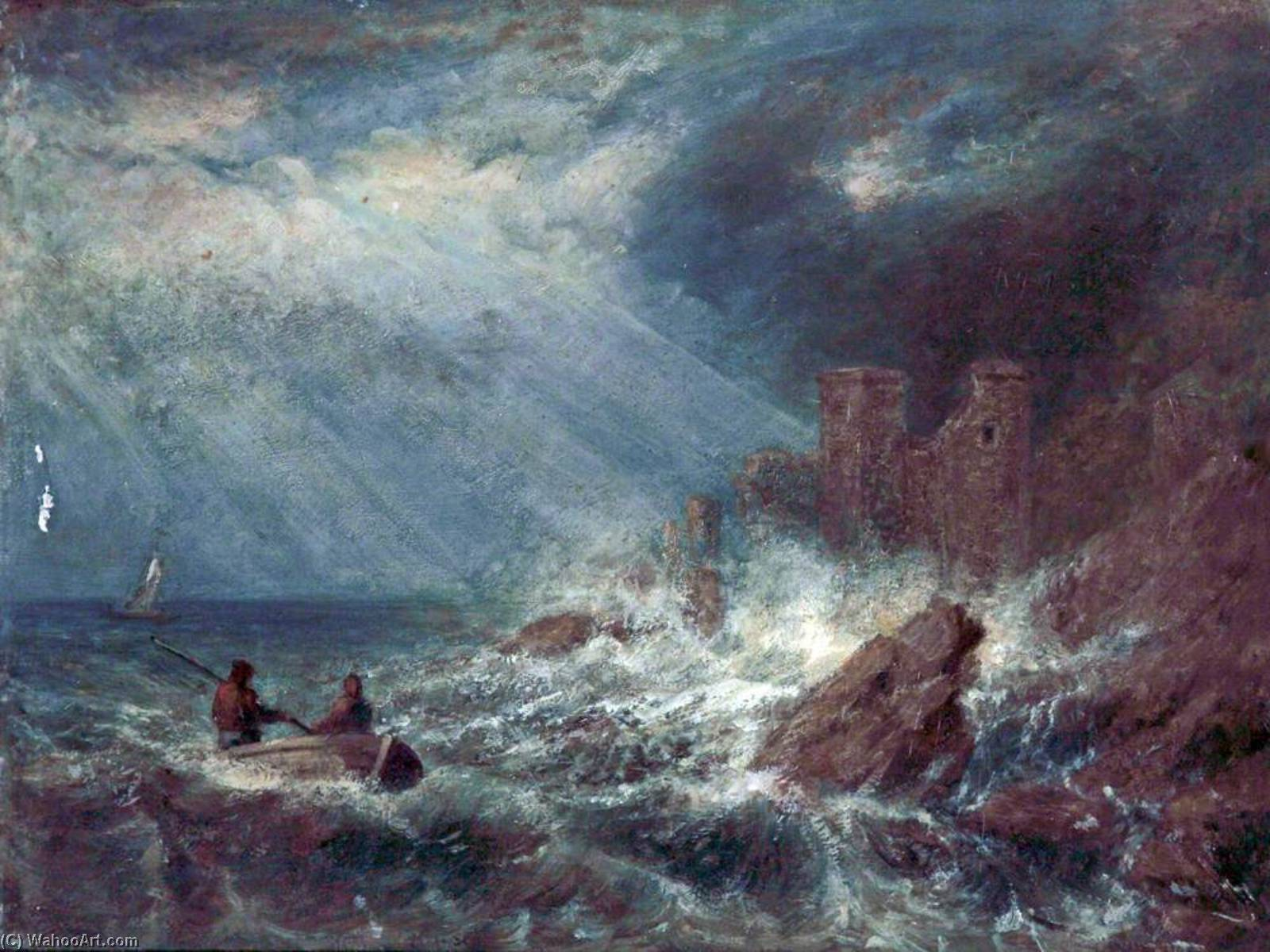 famous painting Stormy Coastal Scene of Philip Wilson Steer